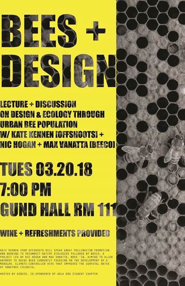Kate speaking at Harvard: Landscapes for Pollinators with GSDBees- 3/20/18 at 7pm